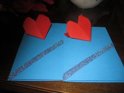 Biglietto di San Valentino con cuore origami