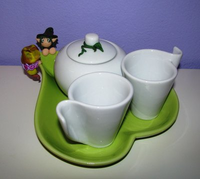 Set di tazzine in ceramica per due con folletti