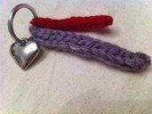 My Valentine- Portachavi con decoro in lana e cuore