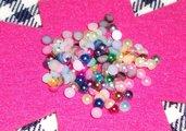 Mezze Perle per Nail Art 3D ^^ - (lotto)
