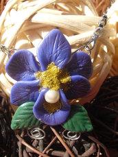 collana orchidea blu (pezzo unico)