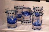 Bicchierini per liquore blu