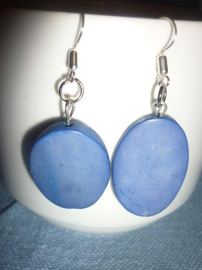 Orecchini etnici indiani ovali azzurri