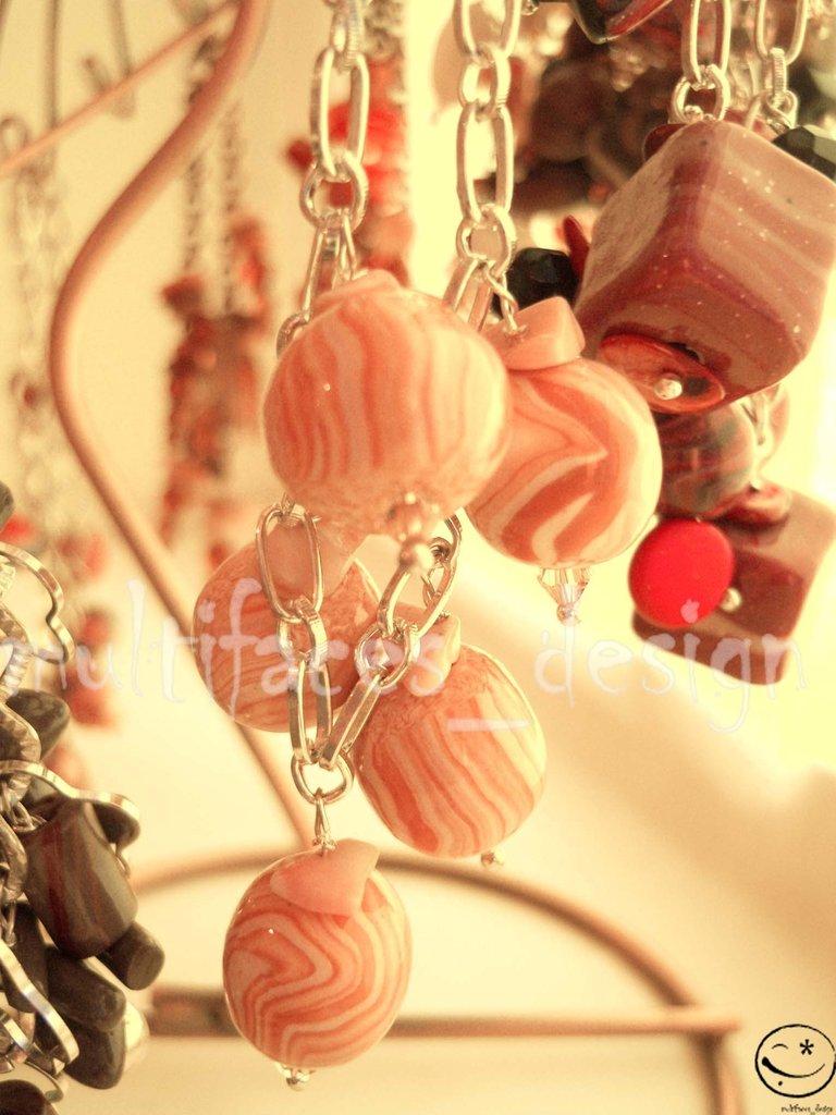 Bracciale fimo rosa