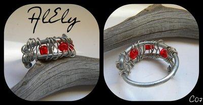 Volto Rosso anello wire C07