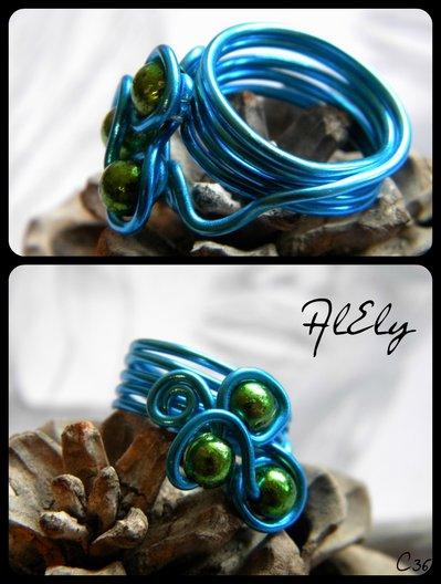 angelo azzurro anello wire C36