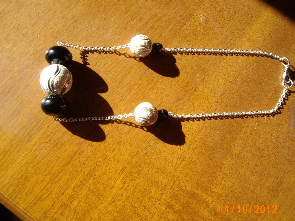 Collana black end silver.