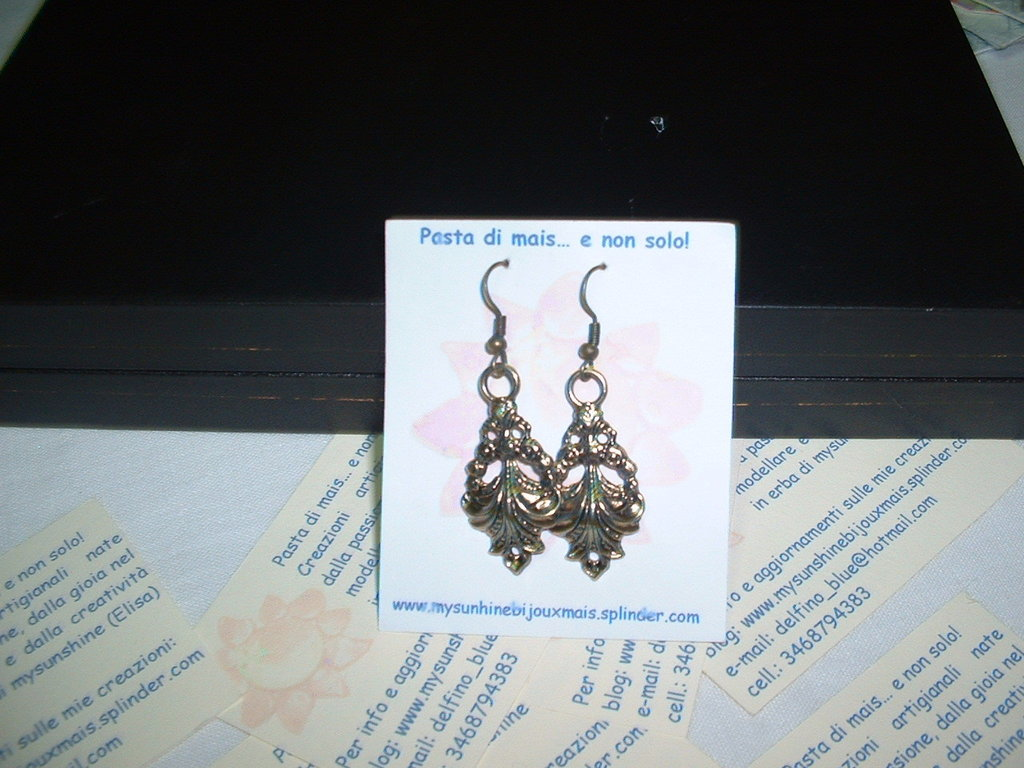 orecchini oro anticato