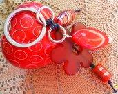 Portachiavi fiore rosso