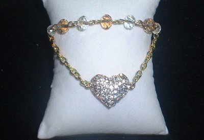 cuore strass