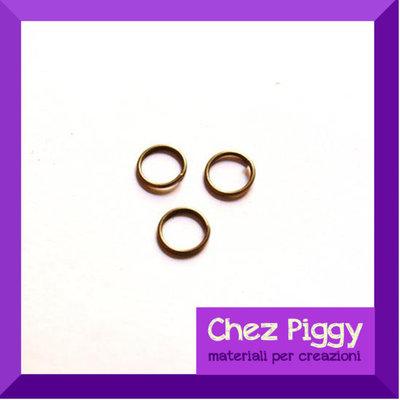 100 x anellini apribili 8 mm - bronzo