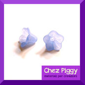 20 x perle a forma di fiore a campanellino blu