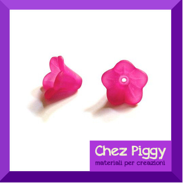 20 x perle a forma di fiore a campanellino PINK