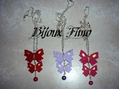 collane farfalla in fimo