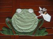 Cartamodello per tovaglietta rana con portatovagliolo ape