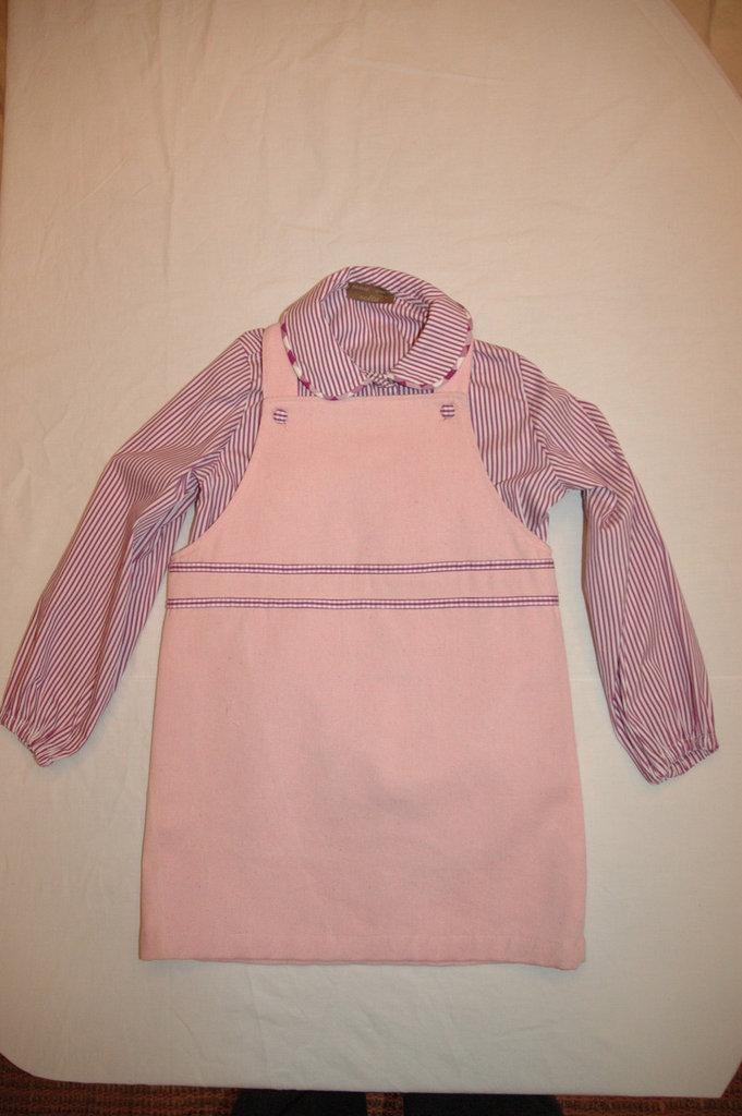 mod.33-96 tg.A3/4 salopette con camicia