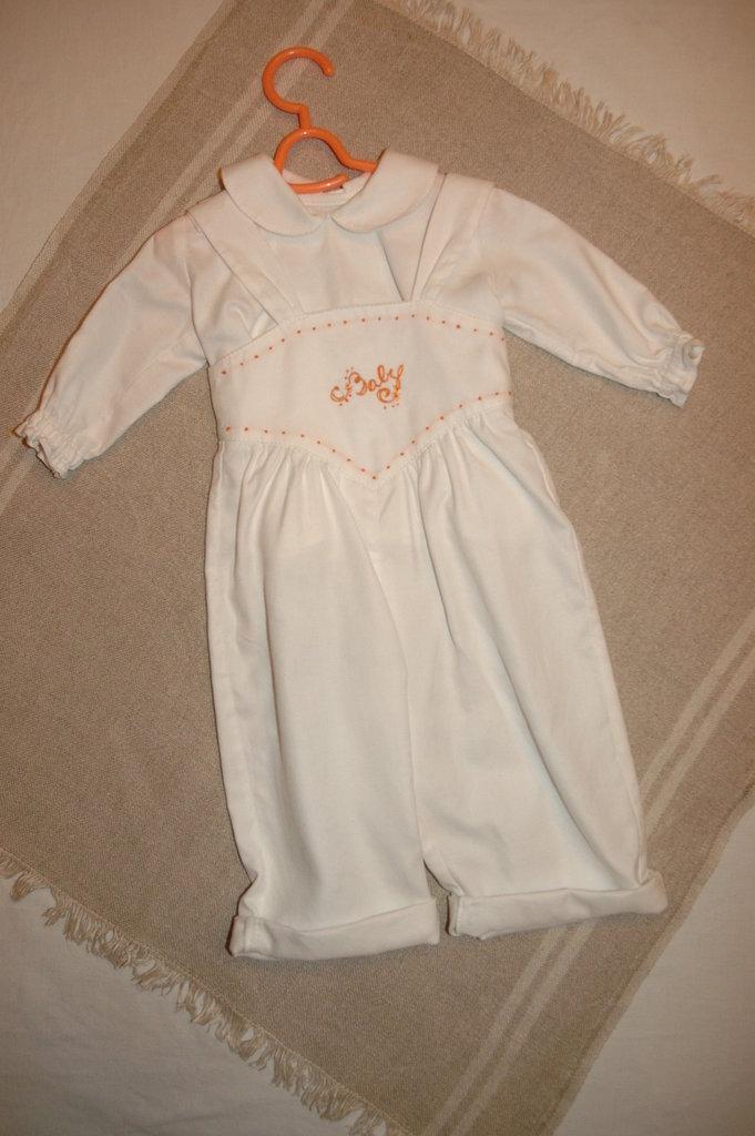 mod,38-103 tg.M3/6 salopette con camicia baby