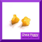 20 x perle a forma di fiore a campanellino ARANCIO