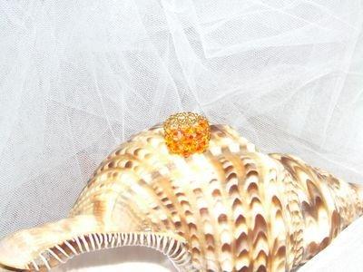 Anello in cristalli Swarovski con sfumature arancioni - cod. E1