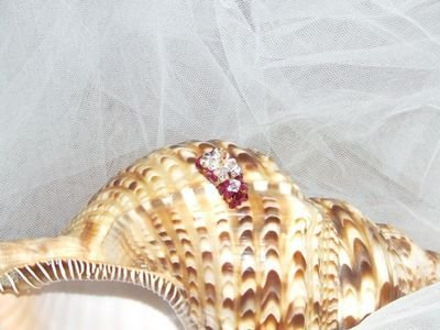 Anello in cristalli Swarovski color granata con rondelle in argento - cod. E4