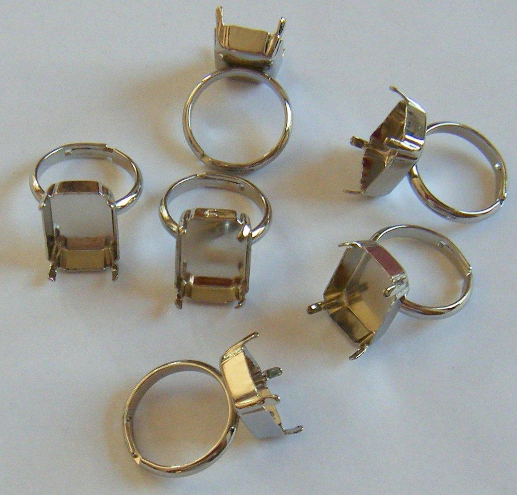 base per anelli  regolabili  in metallo