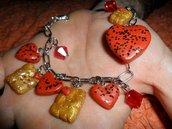 braccialetto cuoricini