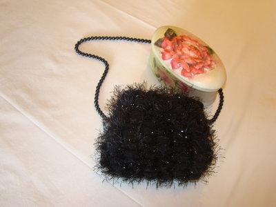 borsetta nero brillante