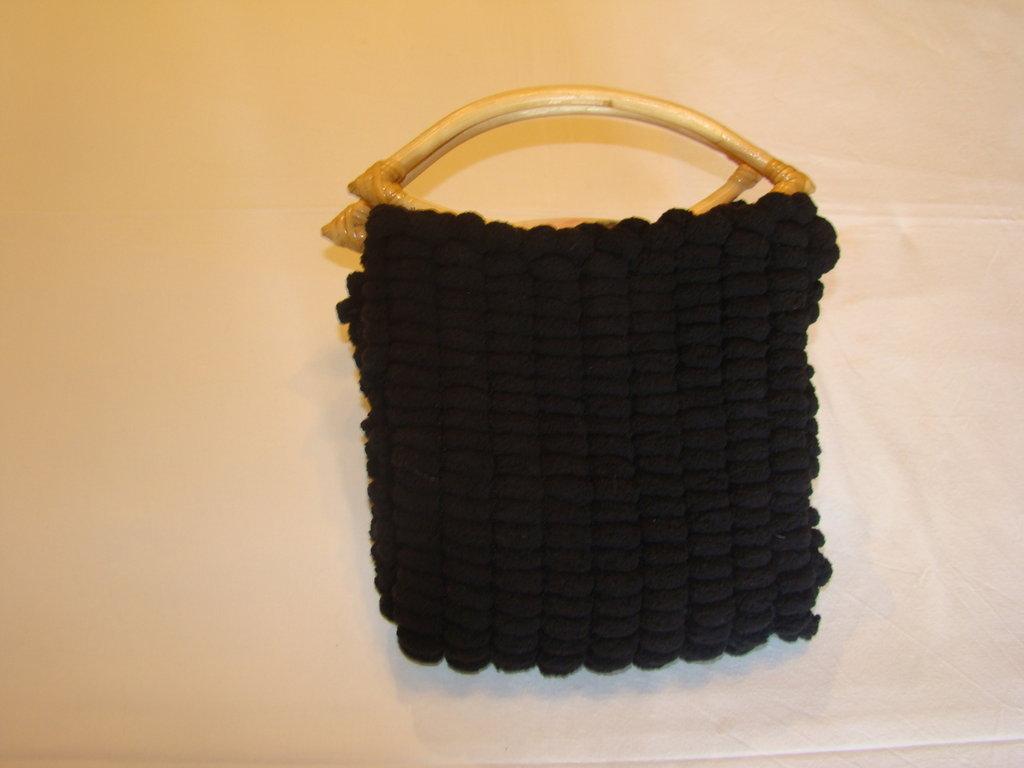 borsetta morbida nera