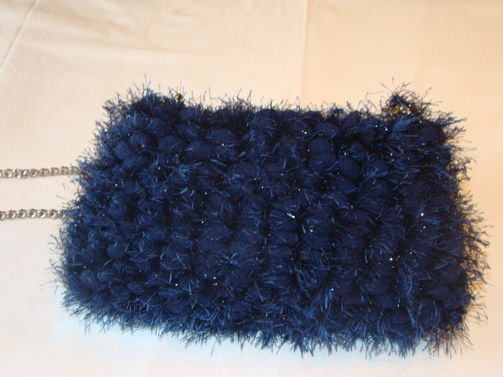 Borsa pallina blu scuro