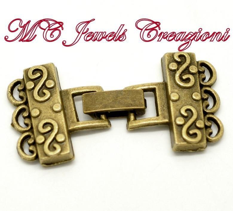 chiusura bronzo per collane/bracciali