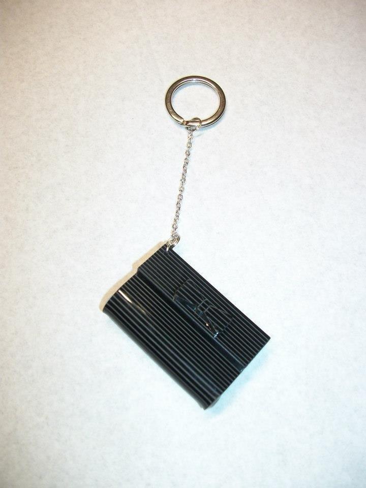 Portachiavi borsina nera