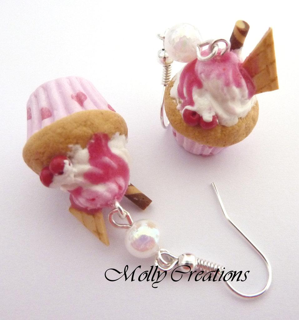 Orecchini Cupcake in Fimo