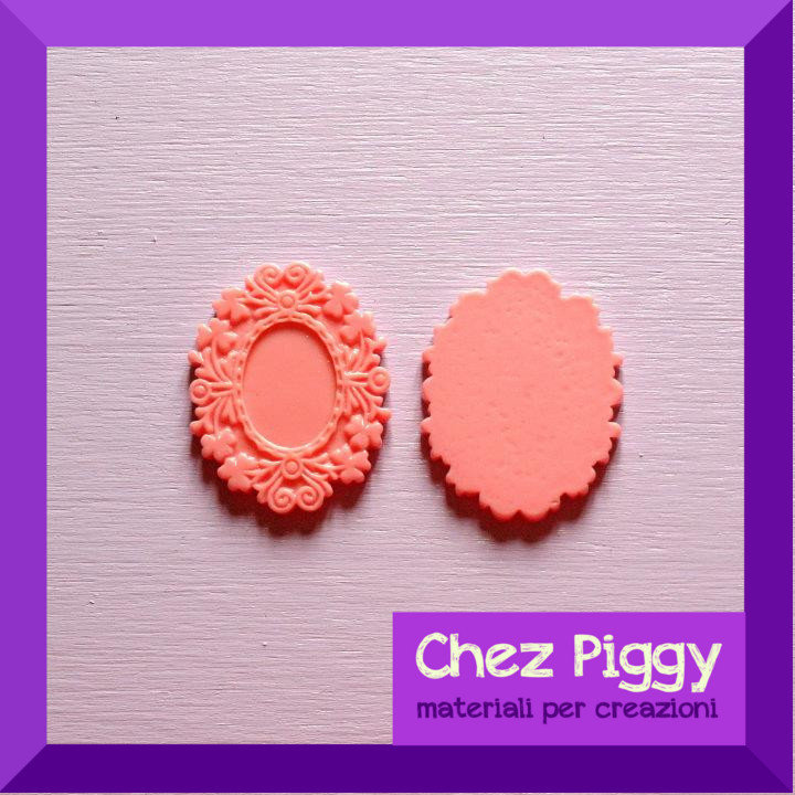 1 x Cameo resina rosa