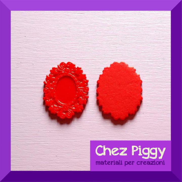 1 x Cameo resina rosso