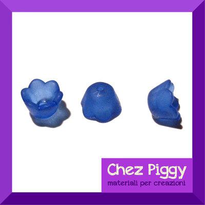 20 x perle campanellino - blu