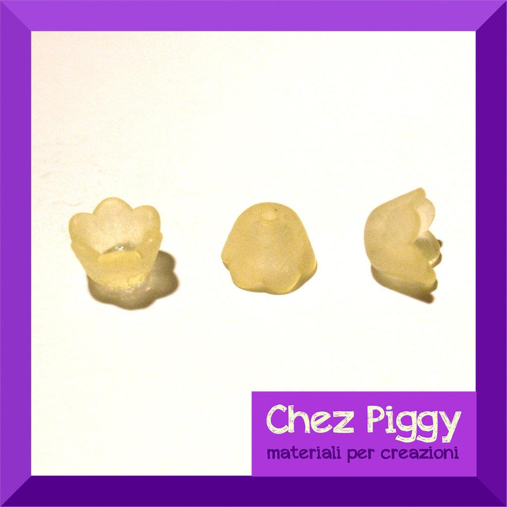 20 x perle campanellino - giallo