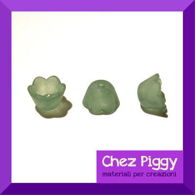 20 x perle campanellino -VERDE