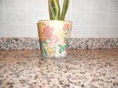vaso decoupage fiori