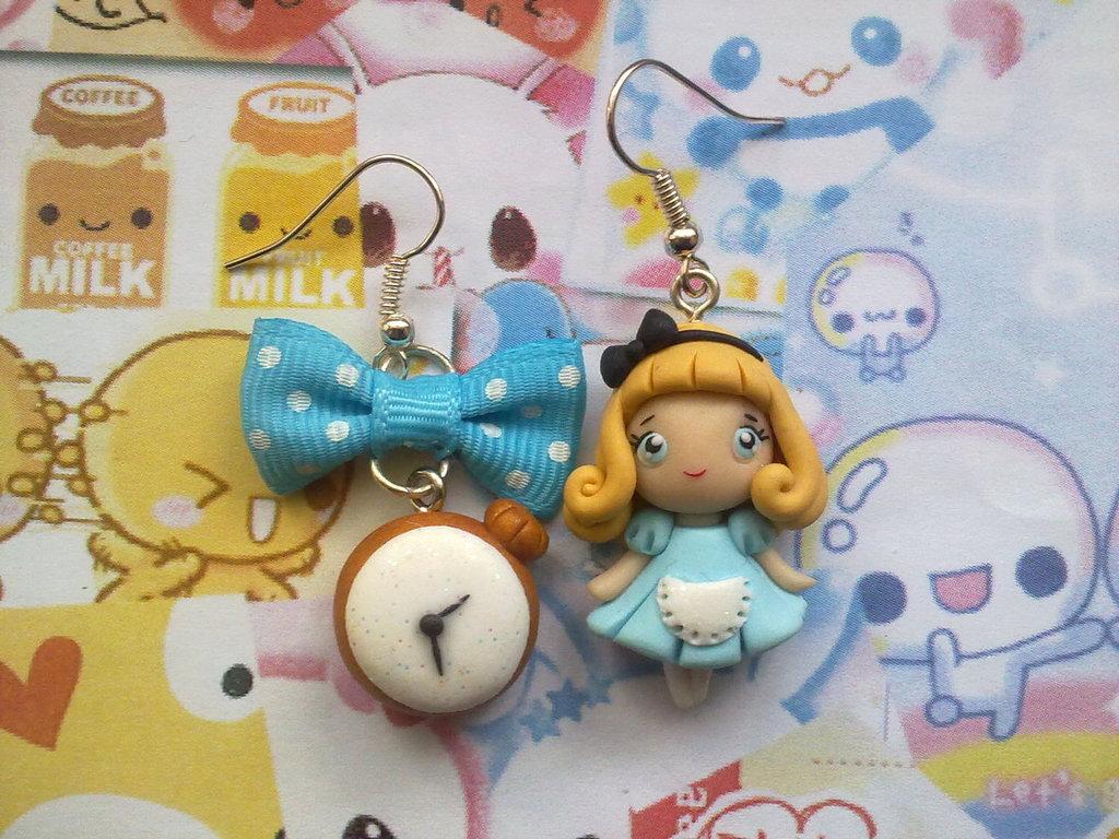 Orecchini in fimo Alice