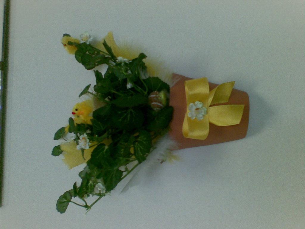 vaso con pulcini