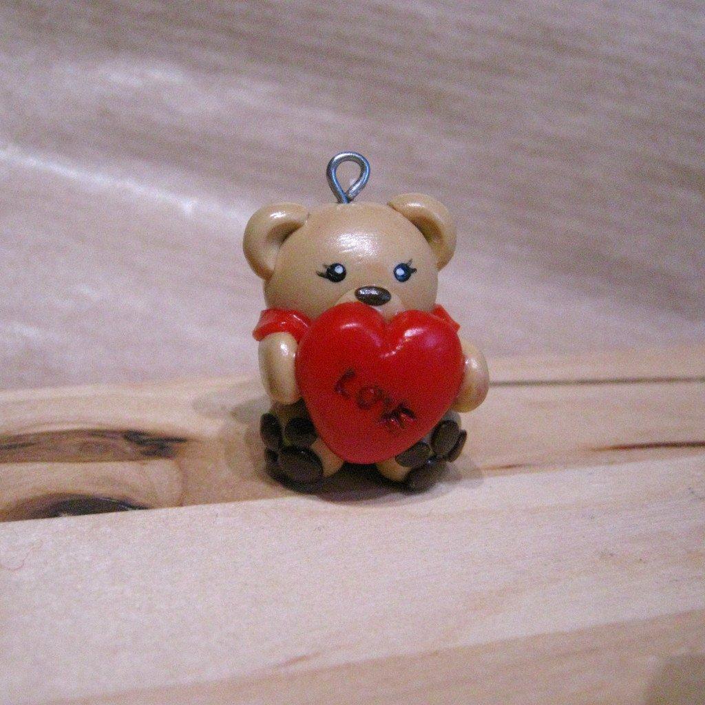Heart Bear Charm