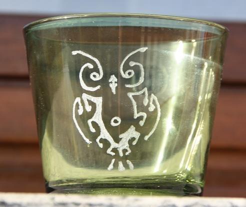 """Bicchiere """"Gufo"""" verde"""