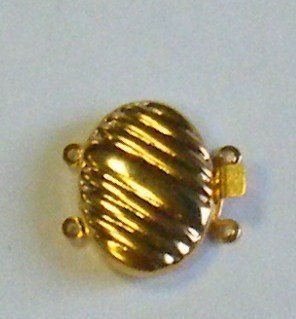 chiusura a 2  e 3 fili in metallo dorato