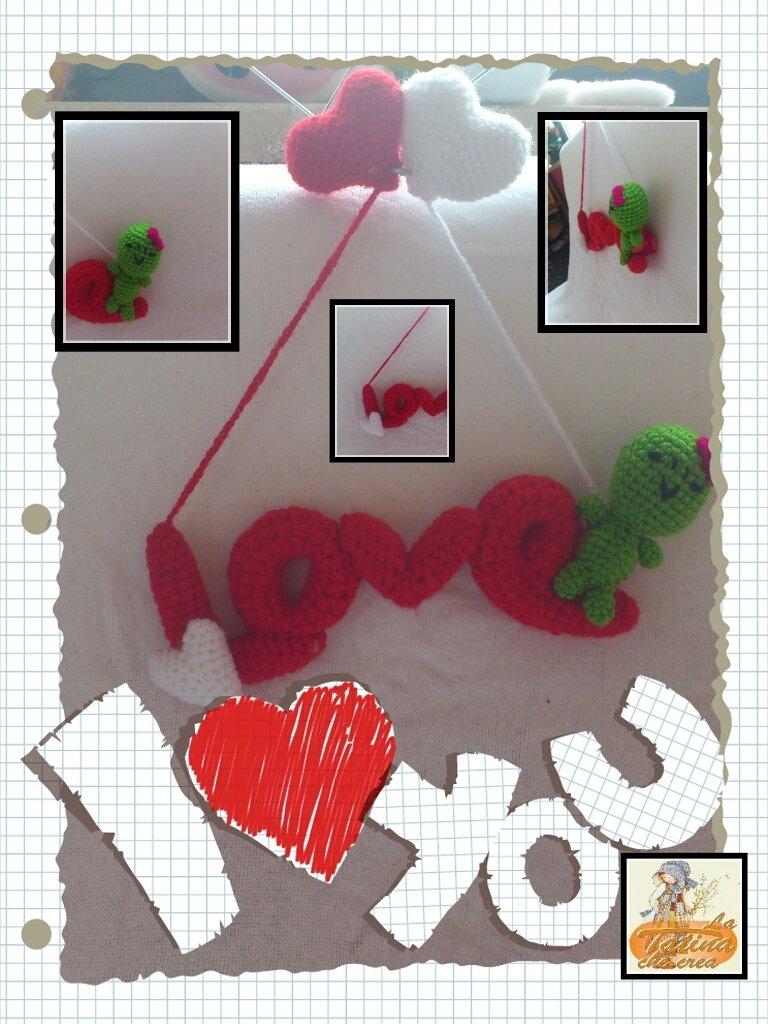 scritta amigurumi i love personalizzabile anche con nome e nei soggetti