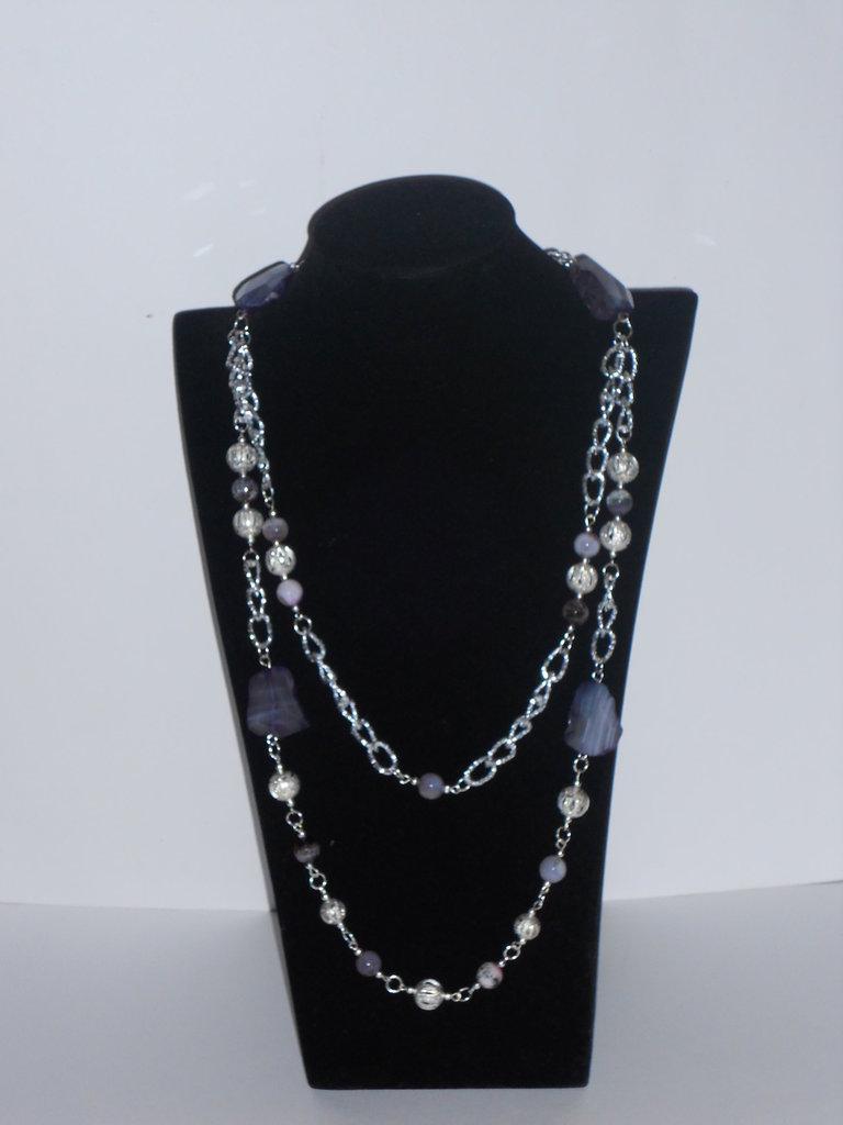 Collana di Agata viola