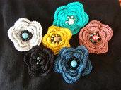 spilla fiore di lana