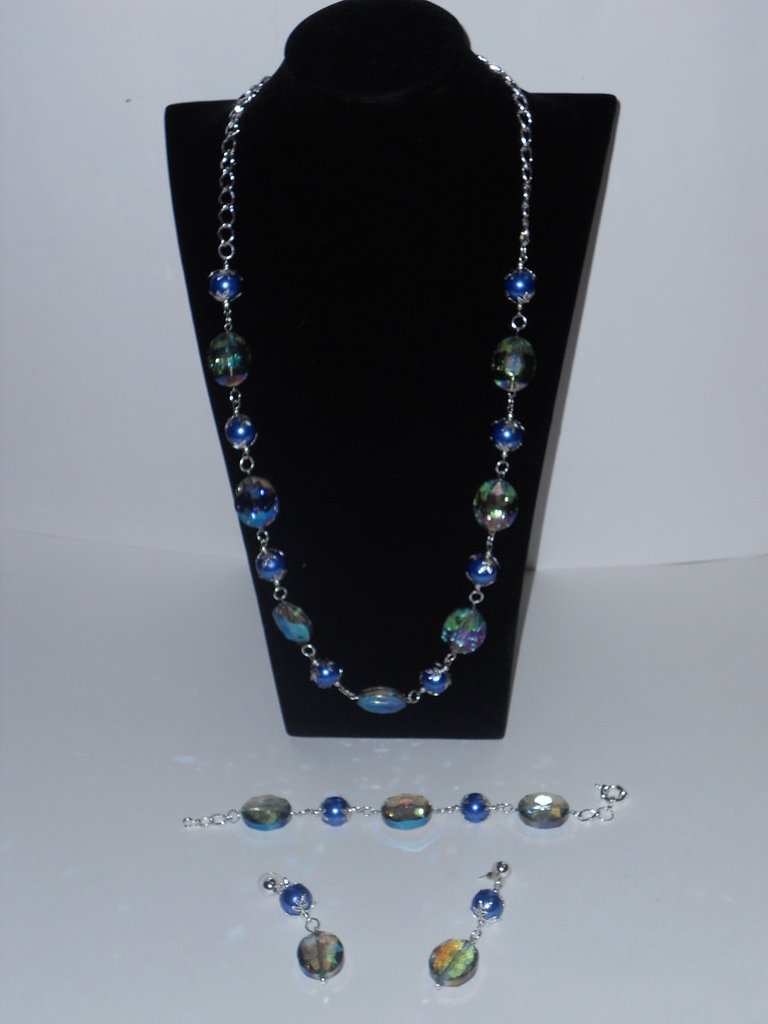 Completo perle e cristalli