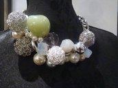 collier verde argento