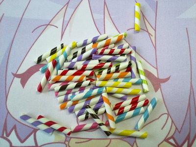 Miniature bastoncini zucchero colorati