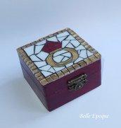 Scatolina legno e mosaico di vetro